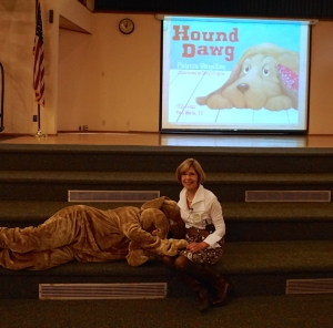 Presenting Hound Dawg along with illustrator Cheryl Pilgrim and Kathy Ritz.  AH-WOOOO!